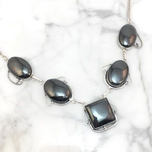 Jewelry - Sterling Silver & Hematite Necklace